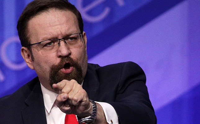 This file photo taken on February 24, 2017 shows Deputy Assistant to US President Donald Trump, Sebastian Gorka, speaking during the Conservative Political Action Conference in National Harbor, Maryland (AFP Photo)
