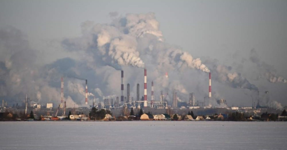 A view shows the Gazprom Neft's oil refinery in Omsk, Russia, Feb. 10, 2020. (REUTERS Photo)