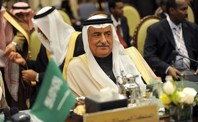 Saudi Arabia's Finance Minister Ibrahim al-Assaf attends the meeting of the Arab Foreign Ministers on the eve of the third session of the Arab Economic, Social and Development Summit held in Riyadh, Saudi Arabia, Jan. 19, 2013. (AFP Photo)