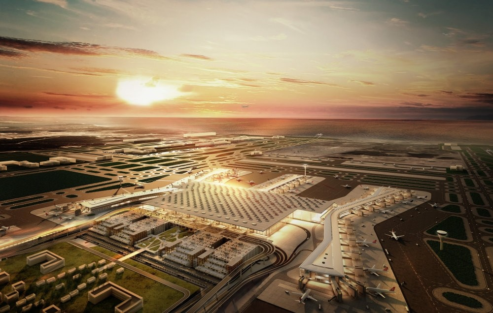 The terminal of the Istanbul New Airport is expected to provide opportunities for flights to more than 350 destinations for nearly 100 airline companies.