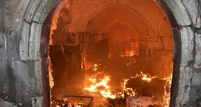 Fire destroys Ottoman-era bazaar in Iraq's Kirkuk