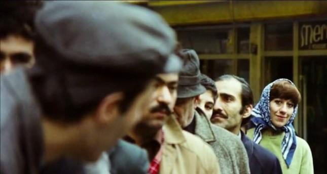 "Ayşen Gruda in the 1977 film ""Çöpçüler Kralı"" (""King of the Street Cleaners""), where she starred with great actors Kemal Sunal and Şener Şen."