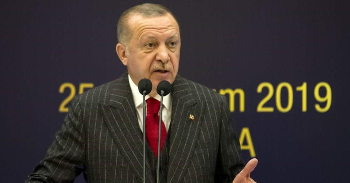 President Recep Tayyip Erdou011fan addresses the sixth Religious Council, Ankara, Nov. 28, 2019. (?HA Photo)