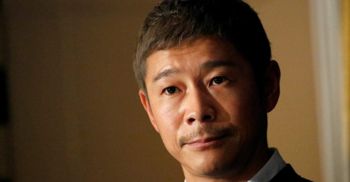 Japanese billionaire Yusaku Maezawa, founder and chief executive of online fashion retailer Zozo, attends a news conference at the Foreign Correspondents' Club of Japan, Tokyo, Oct. 9, 2018. (Reuters Photo)