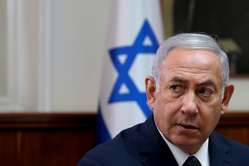 Israeli Prime Minister Benjamin Netanyahu attends the weekly cabinet meeting at the Prime Minister's office in Jerusalem September 5, 2018. (Reuters Photo)