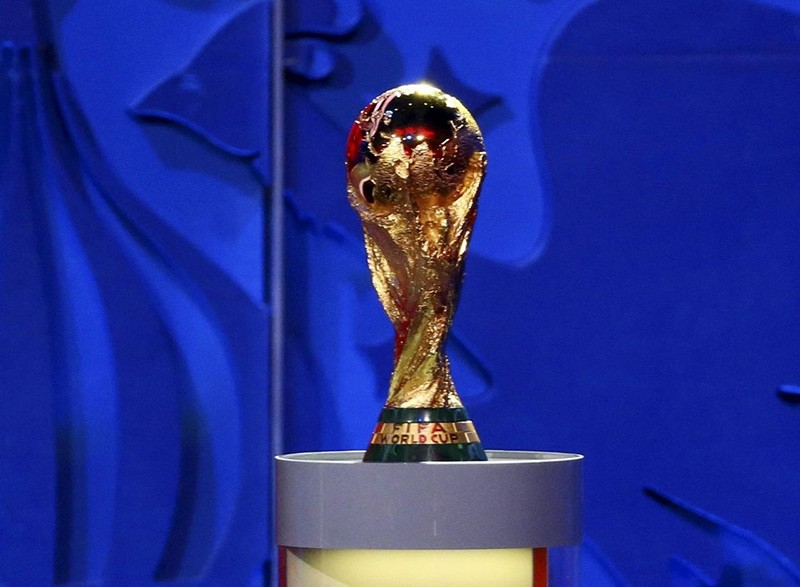 The World Cup trophy is seen during the preliminary draw for the 2018 FIFA World Cup at Konstantin Palace in St. Petersburg, Russia, in this file picture taken July 25, 2015. (Reuters Photo)