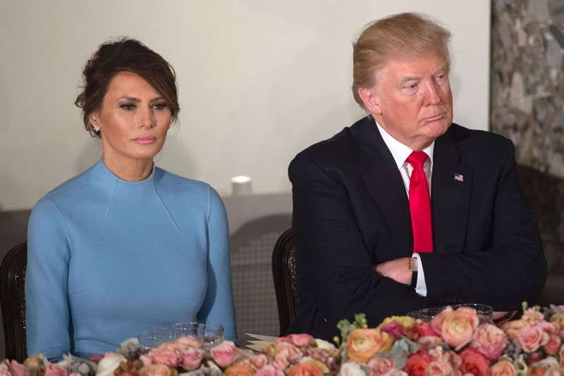 US President Donald Trump and First Lady Melania Trump attend the Inaugural Luncheon at the US Capitol following Donald Trump's inauguration as the 45th President of the United States, in Washington, DC, on January 20, 2017. (AFP Photo)