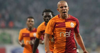 pA resilient Galatasaray managed to bag three more points as they beat Bursaspor 2-1 in the Spor Toto Super League Sunday. With 16 points in six matches, the Lions maintained their lead in the...