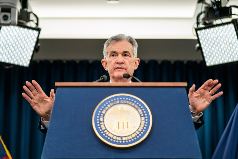 Federal Reserve Chairman Jerome H. Powell announces the Fed's decision to raise interest rates by a quarter point at a news conference following a Federal Open Market Committee meeting in Washington, DC, USA, 19 December 2018. (EPA Photo)