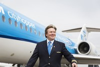 Some Dutch passengers on KLM flights might have recognized the co-pilot's voice when he introduced himself on the airline's Cityhopper services.  It was not just their co-pilot telling them...
