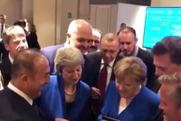 Erdoğan, May, Merkel watch World Cup semifinal on FM Çavuşoğlu's phone