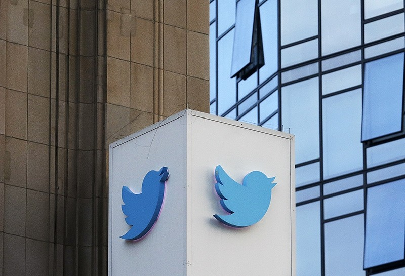 This Wednesday, Oct. 26, 2016, photo shows a Twitter sign outside of the company's headquarters in San Francisco. (AP Photo)