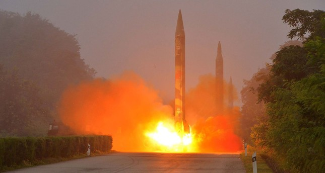 North Korea on August 3, 2016 test-fired a ballistic missile towards the Sea of Japan, South Korea said, in an apparent show of force against the planned deployment of a US missile defence system. (AFP Photo)