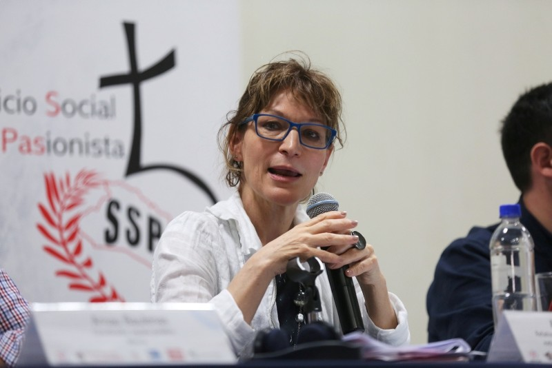 Special Rapporteur on extrajudicial, summary or arbitrary executions at the Office of the U.N. High Commissioner for Human Rights, Agnes Callamard attends a forum at a university in San Salvador, El Salvador, Jan. 30, 2018. (Reuters Photo)