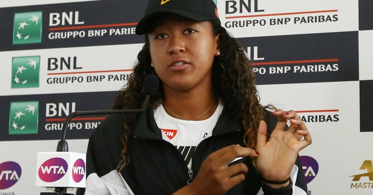 apan's Naomi Osaka during a press conference after withdrawing from her quarter final match against Kiki Bertens of Netherlands due to injury. (REUTERS Photo)