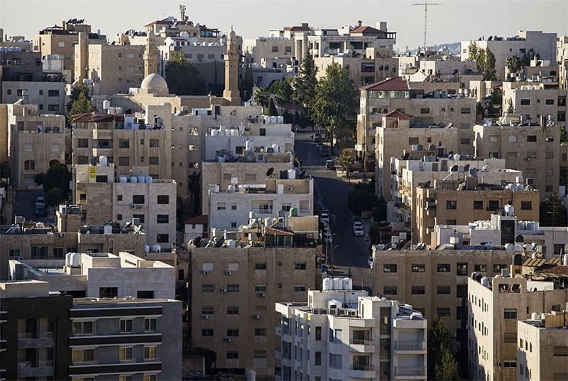 This Nov. 30, 2017 photo, shows densely built apartment buildings and steep hills that are common in Amman, Jordan. (AP Photo)