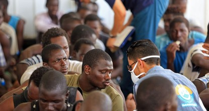 pLibya's coast guard in two separate operations on Monday rescued at least 278 migrants as they tried to reach Europe, naval officials said./p  pIn one operation, 150 migrants, mostly Africans,...