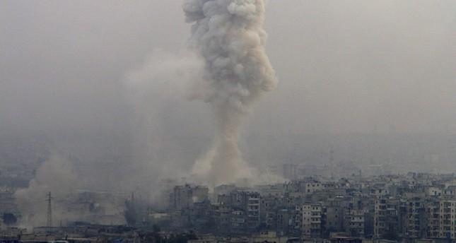 من قصف النظام السوري لمدن وقرى (من الأرشيف)