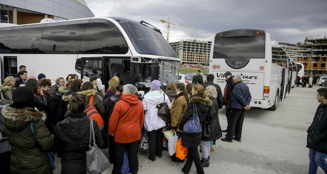 Some 200 women from Bosnia traveled by bus to join the convoy for Syrian women's rights in Istanbul.