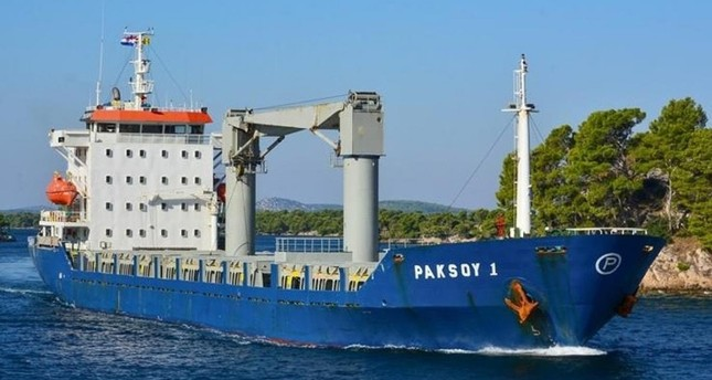 This file photo shows the Turkish-flagged Paksoy-1 ship attacked off Nigeria.
