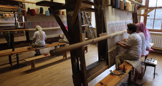 "TBMM National Palaces Hereke Carpet and Silk Weaving Factory has been serving as a ""museum factory"" for 176 years."
