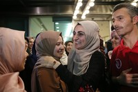 Turkish woman released by Israel arrives in Istanbul