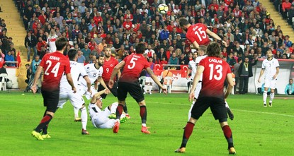 pA reeling Turkey national football team suffered yet another defeat after it was beaten 3-2 by Albania in a friendly Monday./p