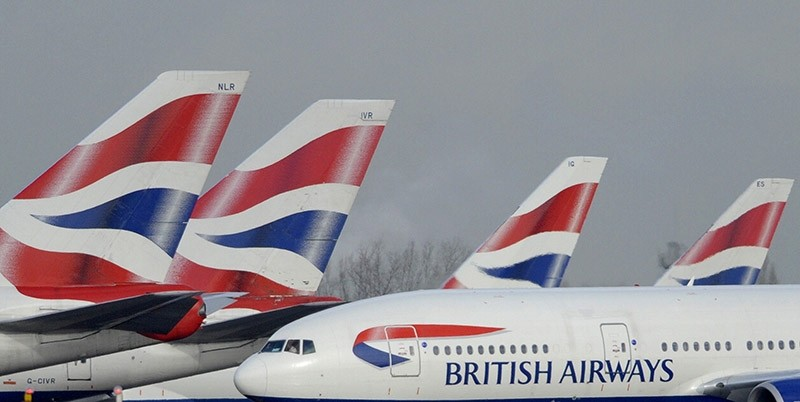 British Airways aircraft are parked at Heathrow Airport in west London February 5, 2010. (Reuters Photo)
