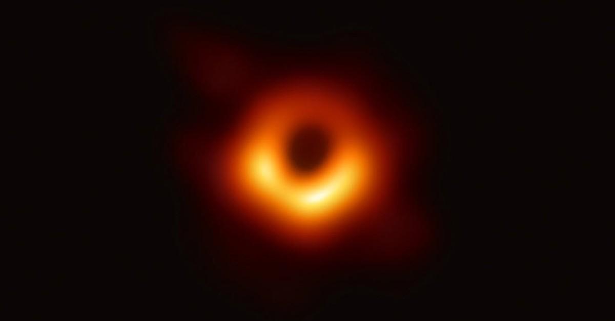 Image of black hole from Twitter @feryal_ozel