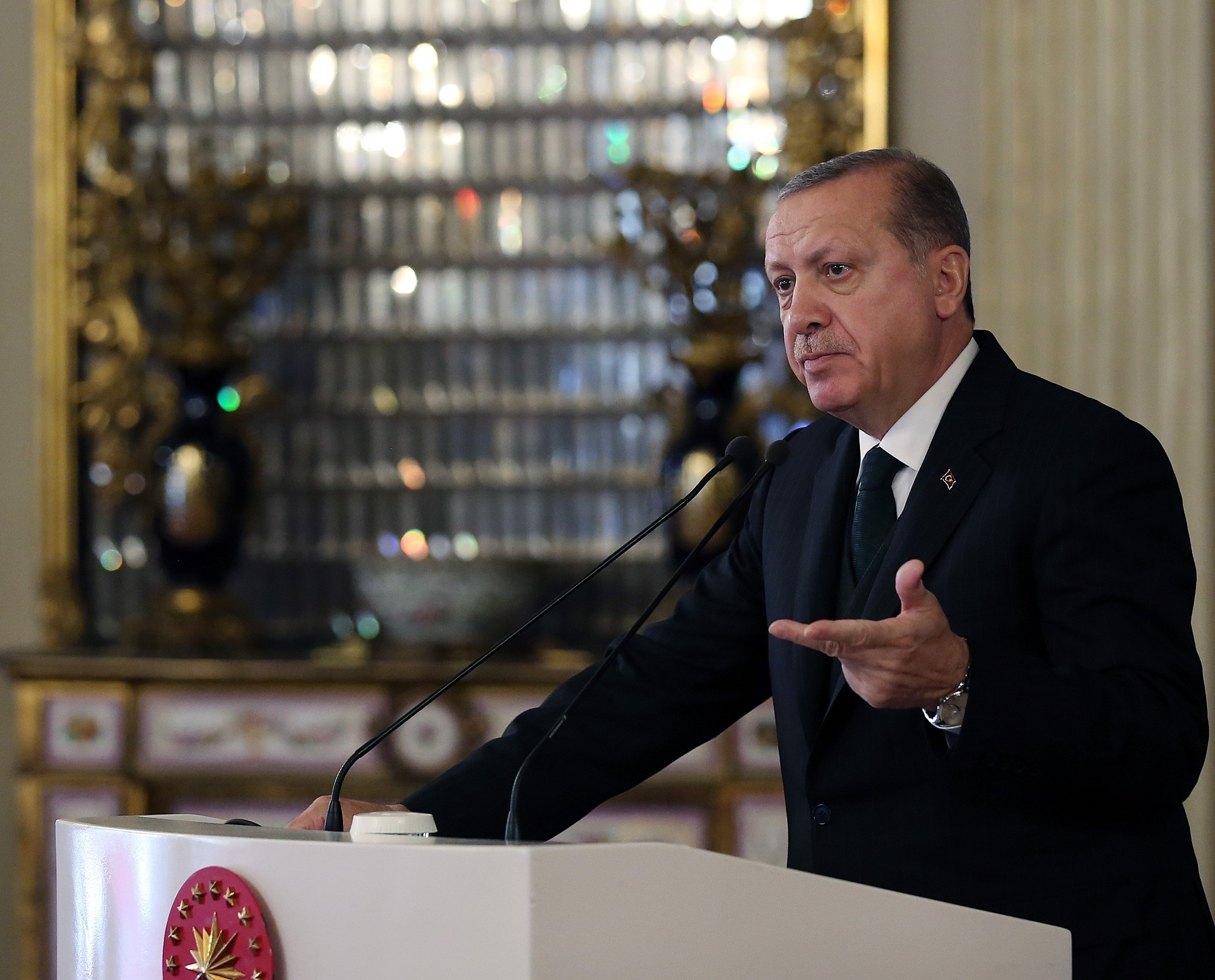 President Erdou011fan bashed the U.S., saying that although in one-on-one meetings they are on Turkeyu2019s side, their actions show otherwise.