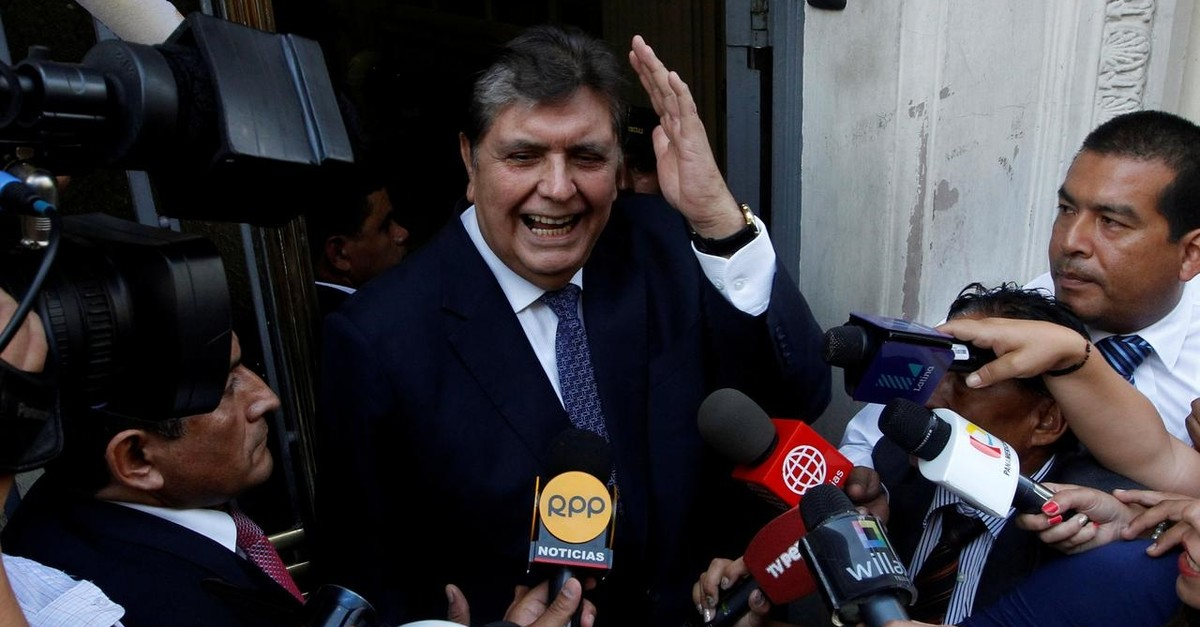 Former president of Peru Alan Garcia arrives to the National Prosecution office to testify in Odebrecht case in Lima, Peru February 16, 2017. (REUTERS Photo)