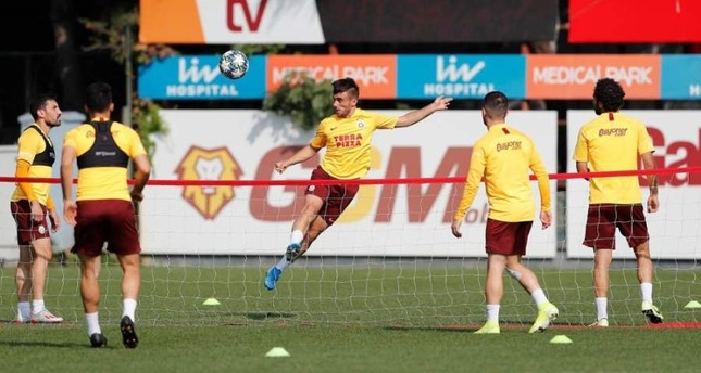 Galatasaray players train for their match against Spanish giant Real Madrid, Istanbul, Oct. 20, 2019. (?HA Photo)