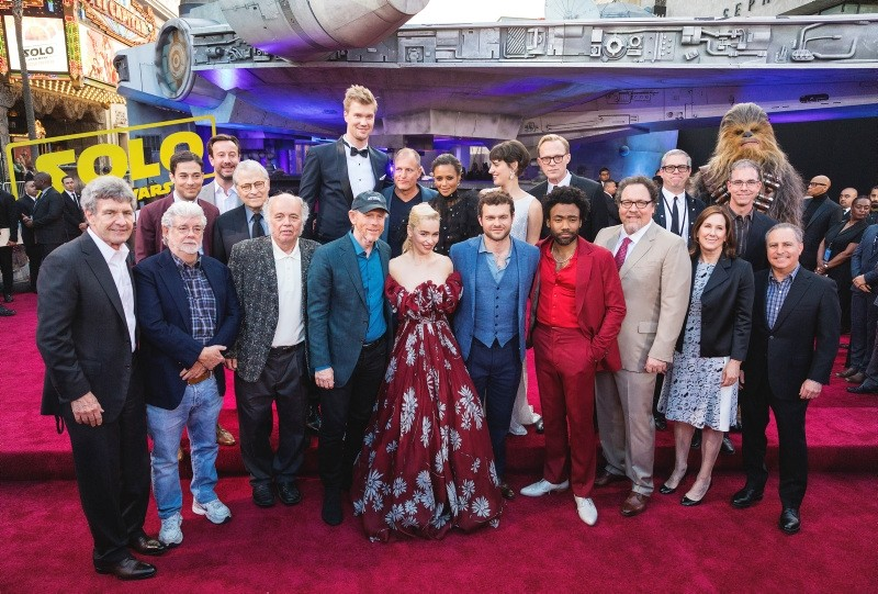 The cast of Solo: A Star Wars Story arrive for it's premiere on Thursday, May 10, 2018, (AP Photo)