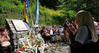 pBosnians commemorated Wednesday the 25th anniversary of the Sokolina massacre, during which Serbian forces killed 48 Bosnian soldiers./p  pThe massacre marked one of the many violent mass...