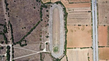 Aerial view of Aphrodisias.