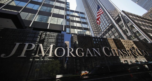 A sign outside the headquarters of JPMorgan Chase & Co in New York, Sept. 19, 2013.