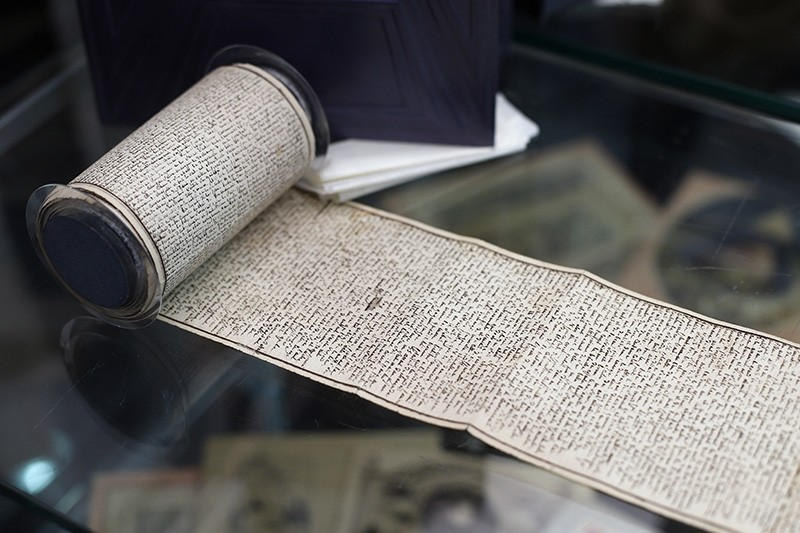 The original manuscript of ,The 120 Days of Sodom, or the School of Libertinage, in Neuilly-sur-Seine, west of Paris, Tuesday, Nov. 14, 2017. (AP Photo)