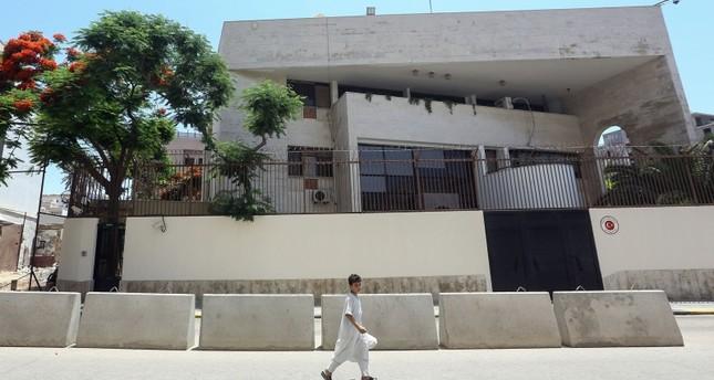 مبنى السفارة التركية في العاصمة الليبية طرابلس