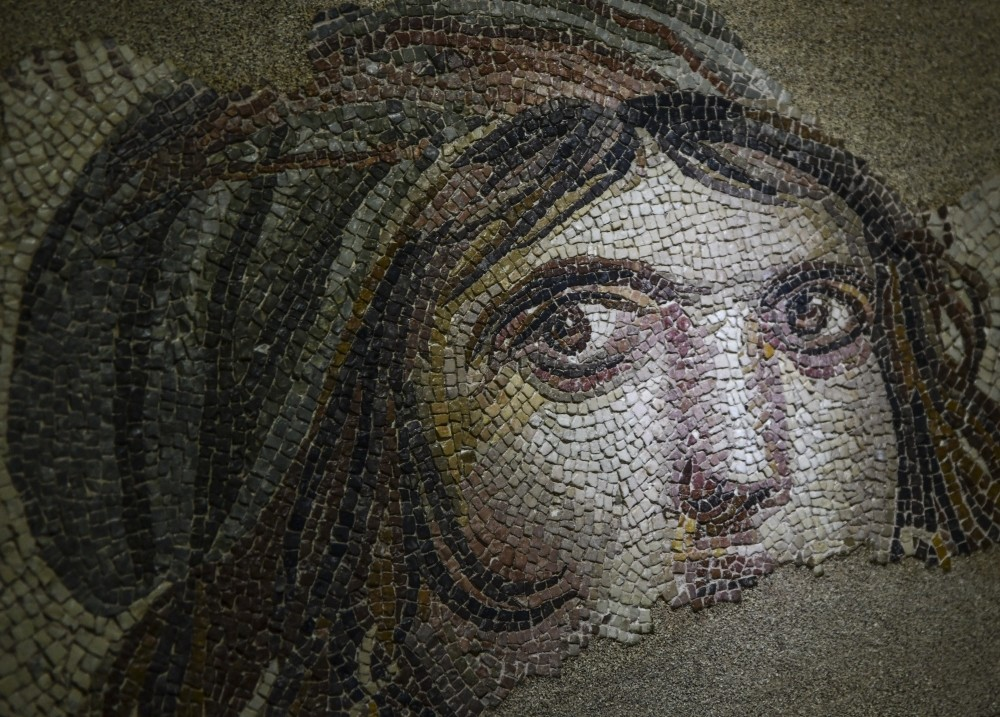 The Gypsy Girl mosaic is a symbol of Gaziantep and one of the most famous artifacts discovered in Turkey.