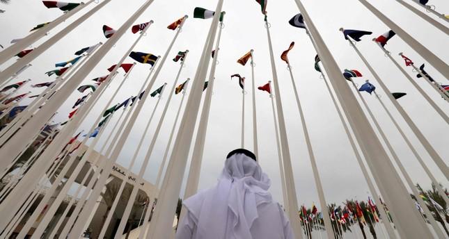 أعلام دولية في معرض اكسبو دبي الفرنسية