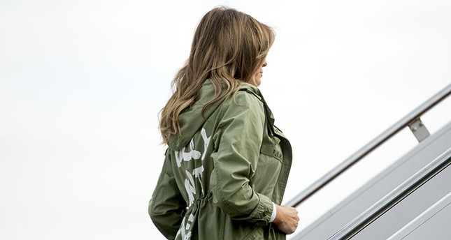 First lady Melania Trump boards a plane at Andrews Air Force Base, Md., Thursday, June 21, 2018, to travel to Texas. (AP Photo)