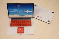 Turkey's national carrier Turkish Airlines (THY) has found a way to legally breach the laptop ban imposed by the U.S. and U.K. on flights departing from Turkey, distributing chocolate laptops to...
