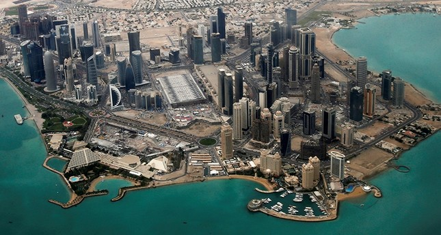 An aerial view of the diplomatic area in Doha, Qatar, March 21, 2013. Reuters Photo