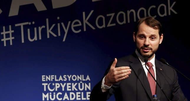 Treasury and Finance Minister Berat Albayrak speaks during an event to announce the government's Full-Scale Fight Against Inflation program in Istanbul, Oct. 9, 2018.