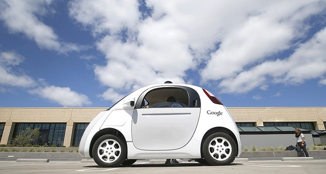 In this May 13, 2015, file photo, Google's new self-driving prototype car is introduced at the Google campus in Mountain View, Calif. (AP Photo)