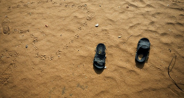 Slippers are pictured at the school compound in Dapchi in the northeastern state of Yobe, where dozens of school girls went missing after an attack on the village by Boko Haram, Nigeria February 23, 2018. (REUTERS Photo)