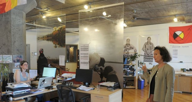 Wapikoni founder Manon Barbeau is seen in her Montreal office in Canada.