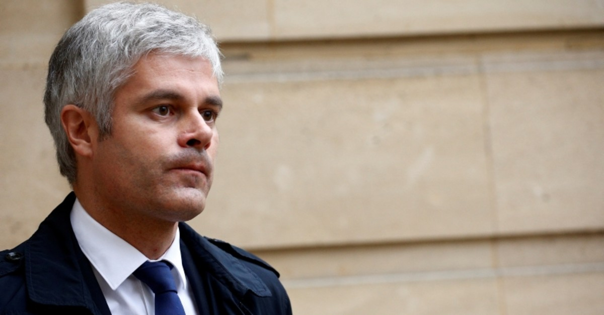 French conservative party Les Republicains (LR or The Republicans) leader Laurent Wauquiez leaves after a meeting with French Prime Minister as the ,yellow vest, nationwide protests continue, at the Hotel Matignon in Paris, France, December 3, 2018.