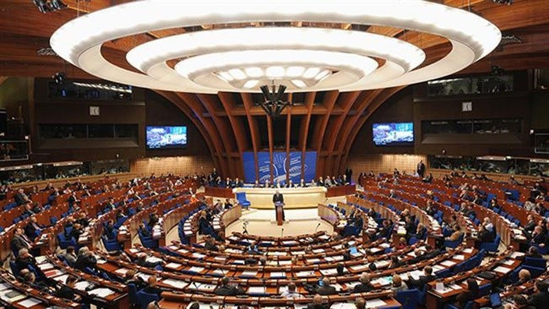 This file photo shows a general view of the Parliamentary Assembly of the Council of Europe. (AFP Photo)
