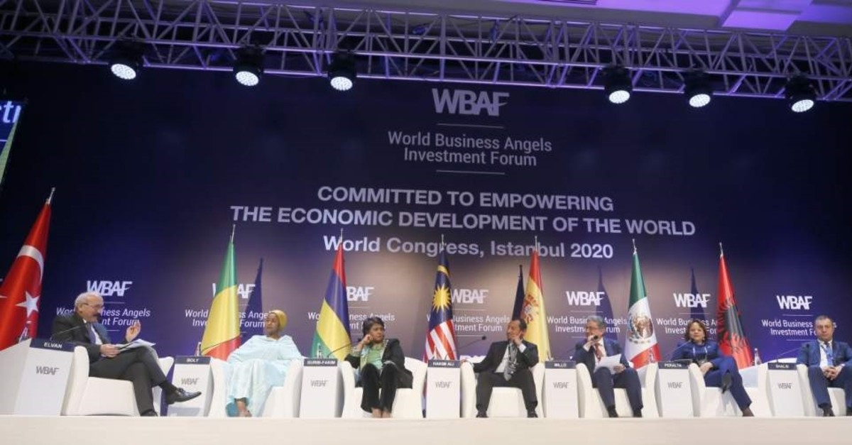 The World Business Angel Investment Forum hosted a ministerial roundtable meeting on critical issues with seven ministers from seven countries, Istanbul, Feb. 17, 2020. (AA Photo)